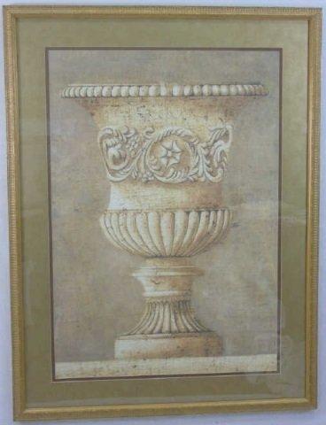 Contemporary Italian Neo Classical Print of Urn