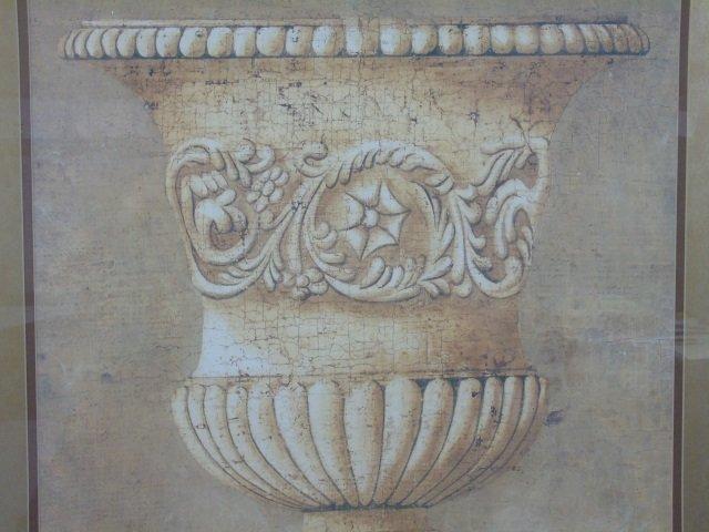 Contemporary Italian Neo Classical Print of Urn - 3
