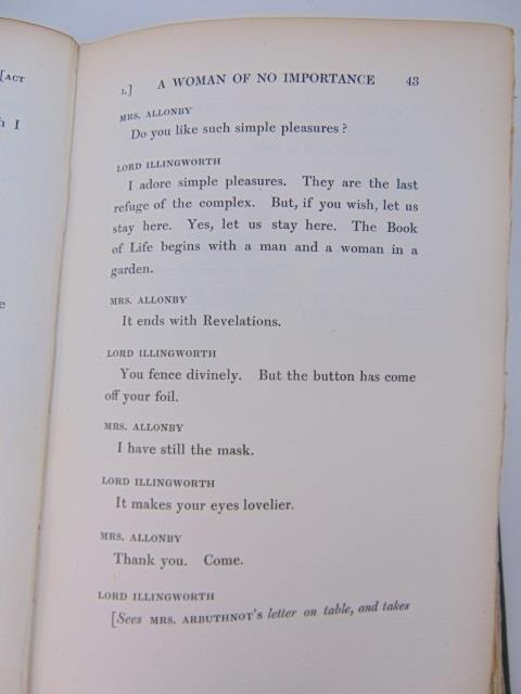 Oscar Wilde Antique Book A Woman of No Importance - 3
