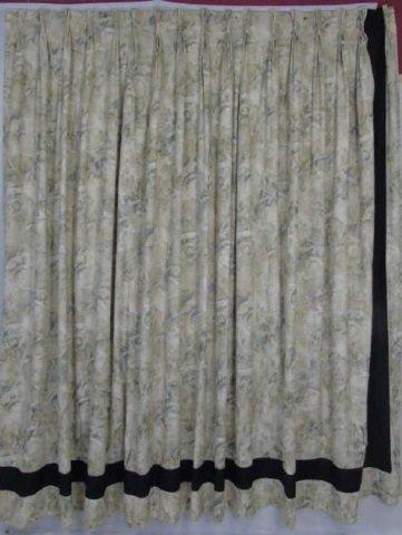 Contemporary Custom Made Designer Fabric Curtains