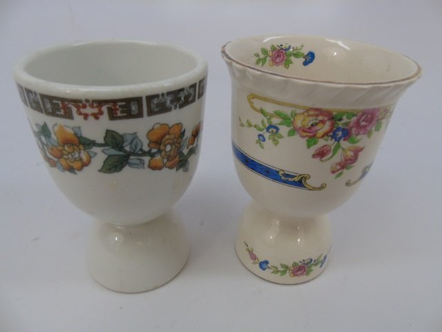 Group of 10 English Egg Cups by Wedgwood etc - 2
