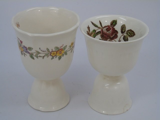 Group of 10 English Egg Cups by Wedgwood etc - 3