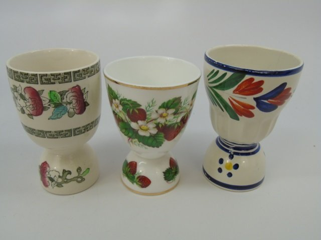 Group of 10 English Egg Cups by Wedgwood etc - 5