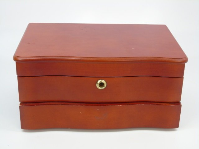 Contemporary Wooden Table Top Jewelry Box - 4