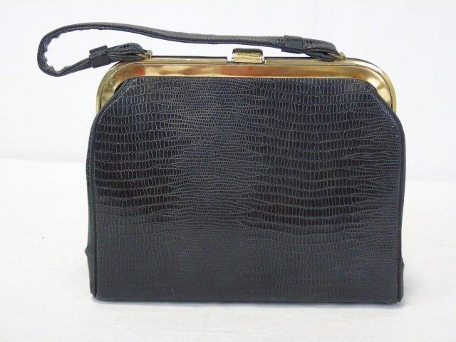 Vintage Black Handbag Purse - 2