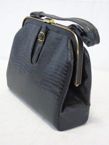 Vintage Black Handbag Purse - 4