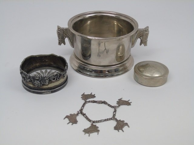 Lot of 4 Sterling & Silver Plate Items