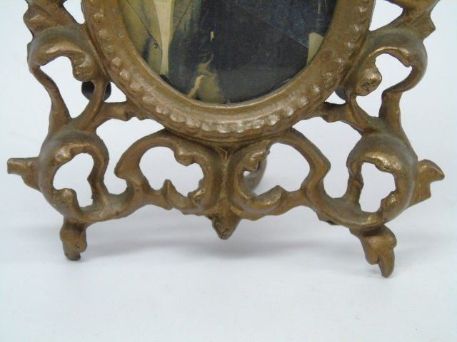 Pair of Antique Victorian Brass Frames - 4