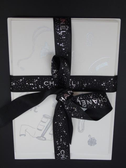 Set of 6 Chanel Paris Note Cards w/ Envelopes