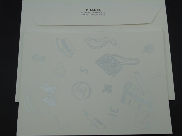 Set of 6 Chanel Paris Note Cards w/ Envelopes - 3