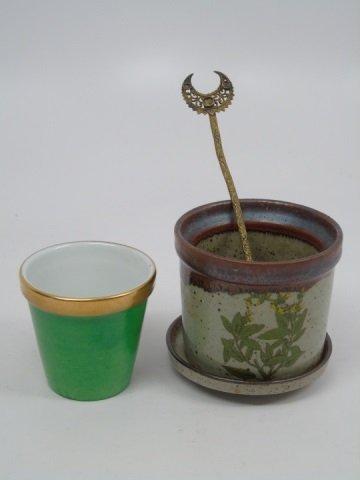 8 Table Items Spode Porcelain Bird Limoges Pot - 8