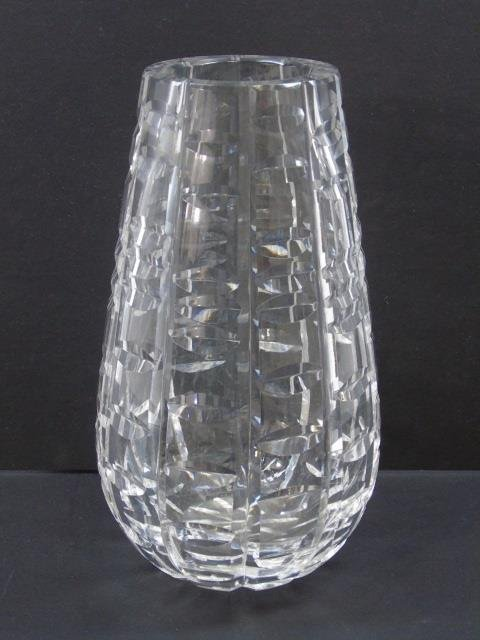 Modern Contemporary Waterford Cut Crystal Vase