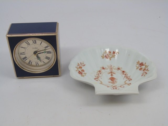 Assorted Vintage Table Articles Porcelain & Clock - 6