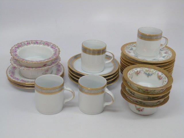 Antique Finger Bowls, Underplates & Demitasse