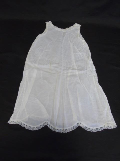 Antique Lace Christening Gown, Gloves & Doilies - 5