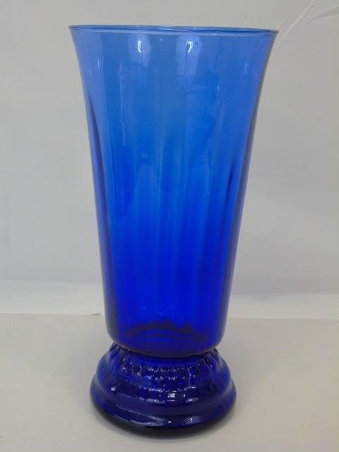 Large Blue Glass Vase - 3
