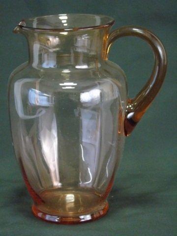 3 Vintage Depression Glass Pitchers - 2