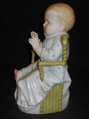 Pair of Bisque Painted Piano Baby Statues - 4