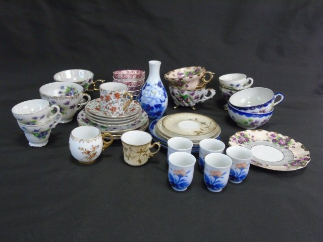 Collection of Antique & Vintage Cups & Saucers