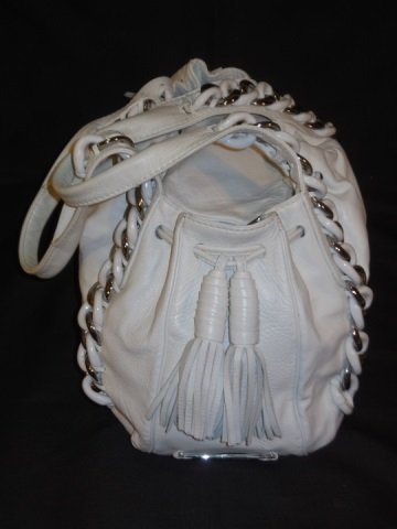 Michael Kors White Leather Handbag/Satchel - 10