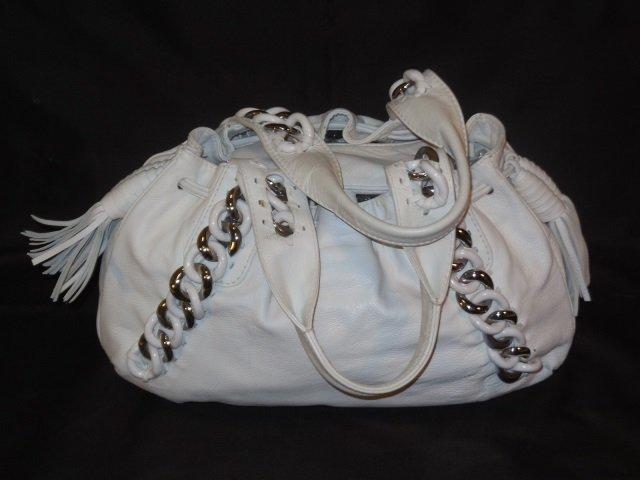 Michael Kors White Leather Handbag/Satchel