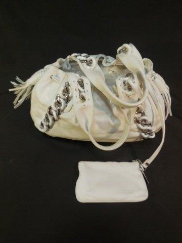 Michael Kors White Leather Handbag/Satchel - 3