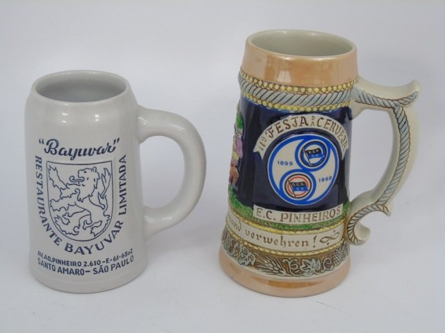 Collection of German Beer Steins, Mugs, Boot - 5