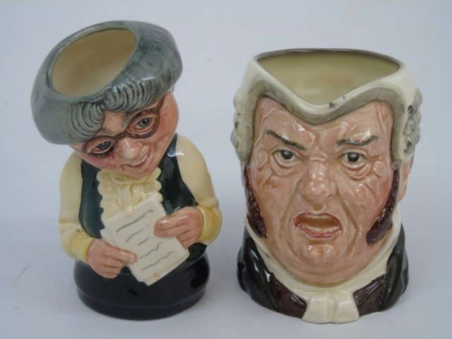 Lot of 6 Vintage English Royal Doulton Toby Mugs - 2