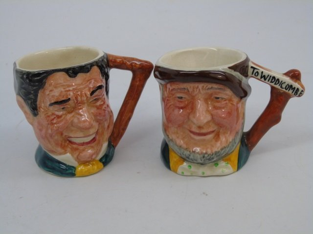 Lot of 6 Vintage English Royal Doulton Toby Mugs - 4