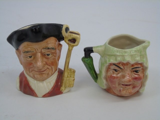 Lot of 6 Vintage English Royal Doulton Toby Mugs - 6