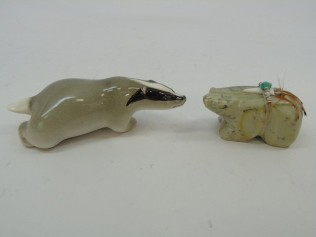 Lot of 5 Hard Stone & Glass Animal Figurines - 3