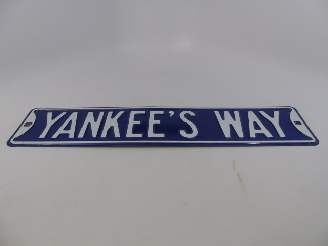 YANKEE'S WAY Metal Street Sign Yankee Fan - 2