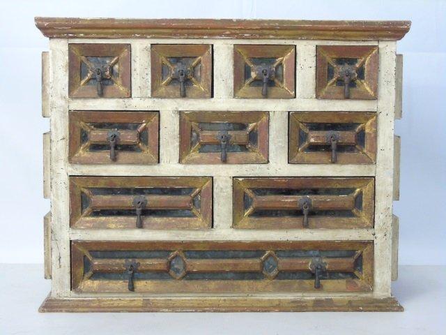 Antique Venetian Style Gilt Wood Jewelry Chest