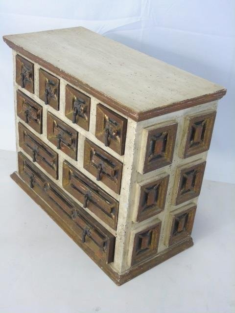 Antique Venetian Style Gilt Wood Jewelry Chest - 2