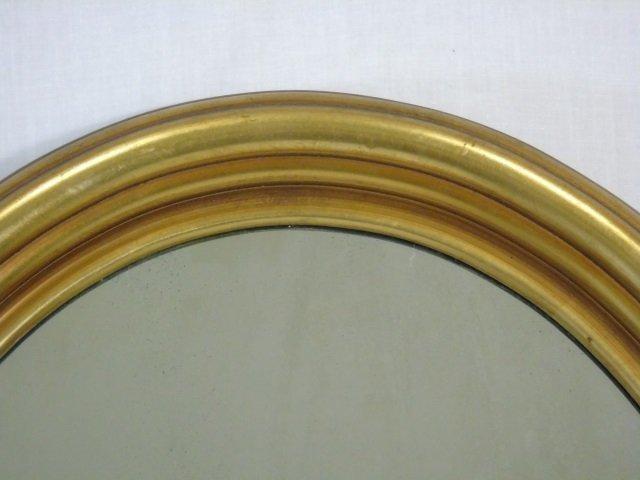 Carved Oval Gold Leaf Framed Mirror - 2