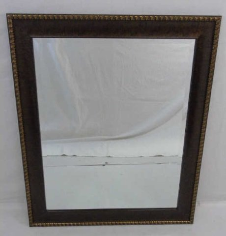 Contemporary Bronze Tone Framed Mirror