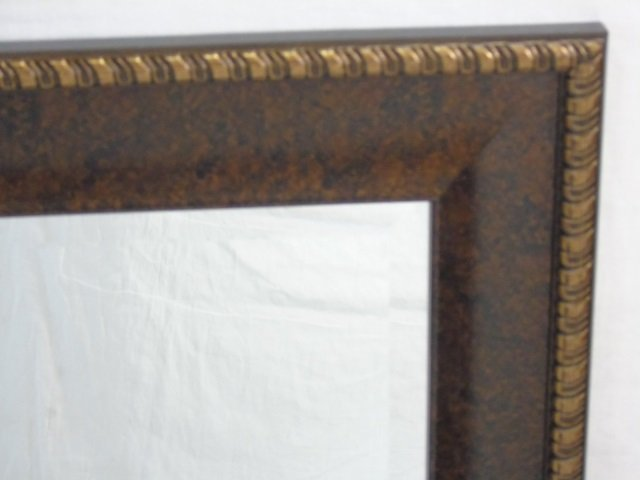 Contemporary Bronze Tone Framed Mirror - 2