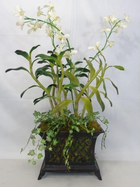 Two Contemporary Silk Floral Arrangements in Pots - 2