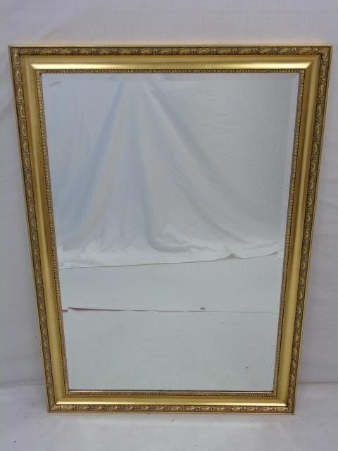 Neo Classical Gilt Frame Beveled Glass Mirror