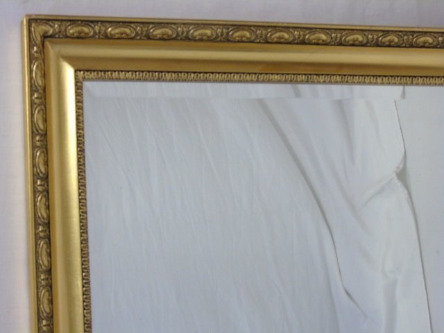 Neo Classical Gilt Frame Beveled Glass Mirror - 2