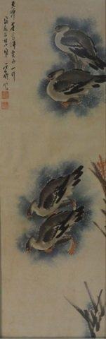 Pair of Vintage Japanese Watercolor Paintings - 2