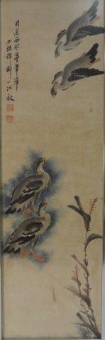 Pair of Vintage Japanese Watercolor Paintings - 4