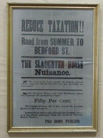 1905 Stamford, CT Public Protest Original Poster