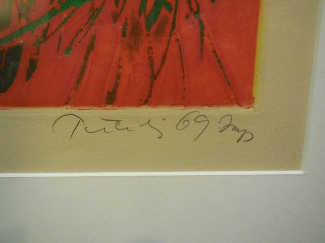 Abstract Lithograph Signed Lower Right, # 39/75 - 2
