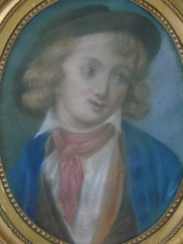 Antique French School Pastel of a Boy - 2