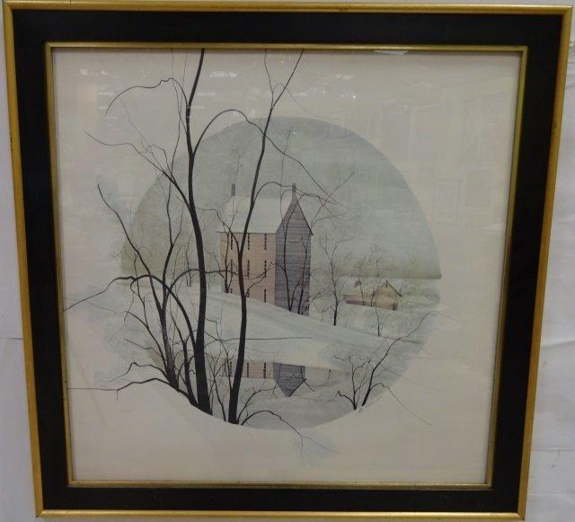 Moss - Framed Lithograph Poster Snow Scene