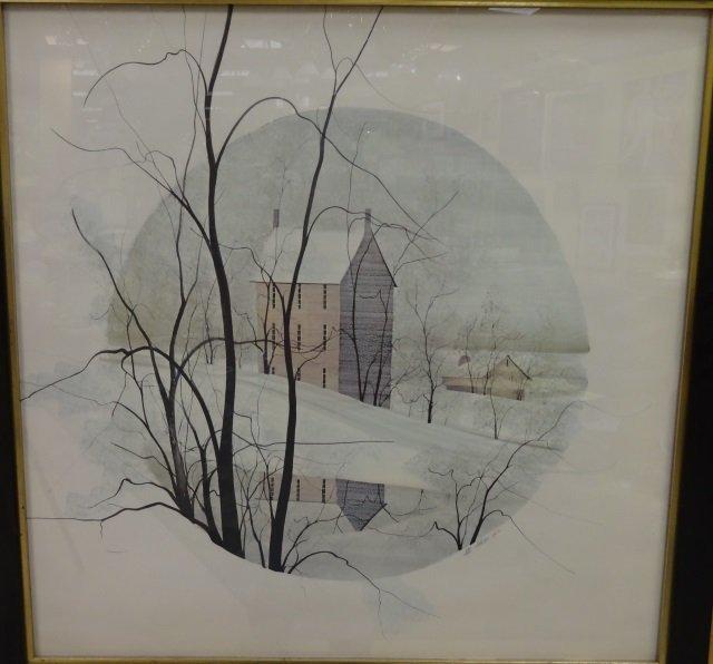 Moss - Framed Lithograph Poster Snow Scene - 2