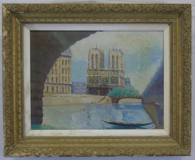 Impressionist Oil Painting of Notre Dame Cathedral