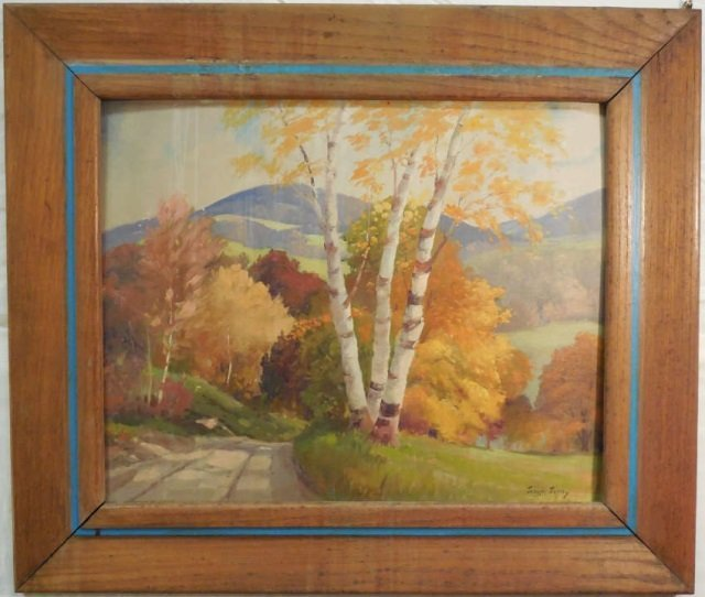 Joseph Jenny Oil on Canvas of Landscape in Fall