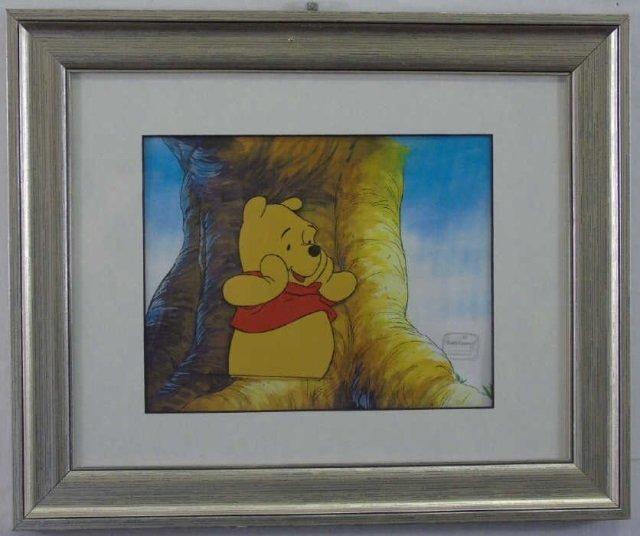 Winnie the Pooh TV Animation Cel Worried Pooh Bear